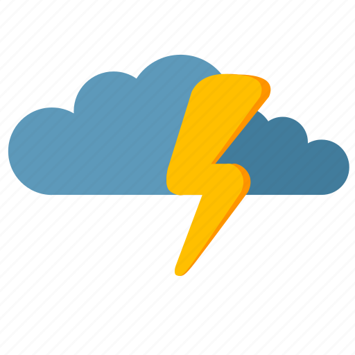 clouds, shock, storm, weather icon