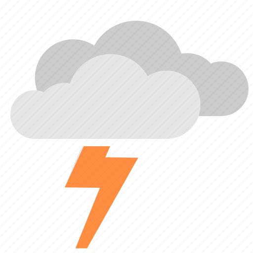clouds, electric, storm, weather icon