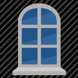 glass, house, light, window icon