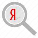 find, loop, magnifier, search, sign, yandex icon