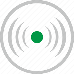 charge, dot, mobile, round, wireless icon