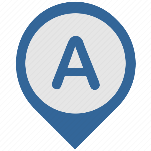 a, location, map, place, pointer icon