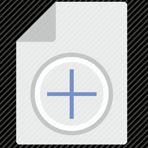 add, doc, document, file, plus icon
