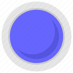 blue, color, fill, mate, paint, round icon