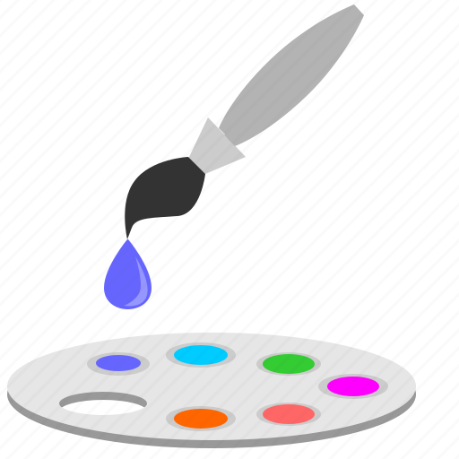 brush, choose, color, draw, drop, ink, instrument icon
