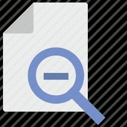 doc, document, file, loop, minus, scale icon