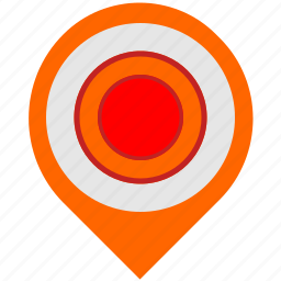 dot, hot, location, map, pointer icon