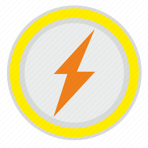charge, electric, label, mobile, poi, round icon