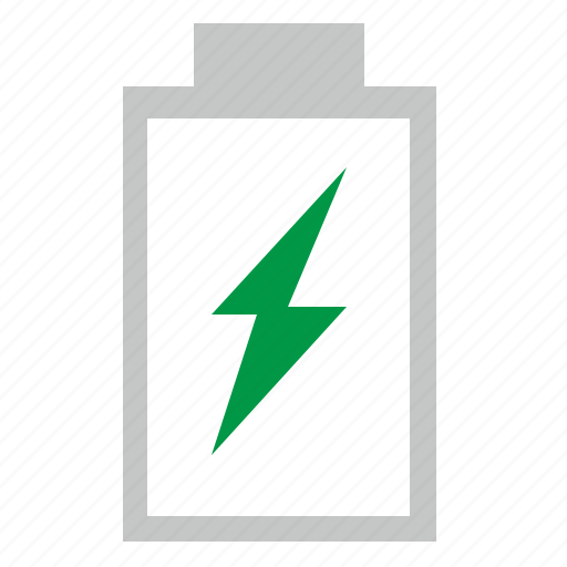 battery, charging, electric, empty, mobile icon