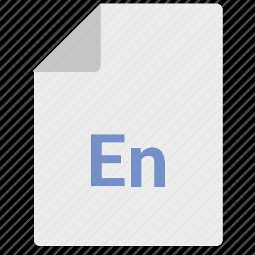 doc, document, en, english, file, language icon