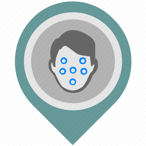 detect, face, location, pointer icon