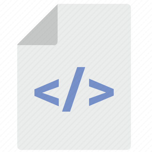 code, document, file, html, hypertext, text icon