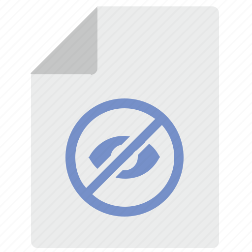 cancel, doc, document, file, hide, view icon