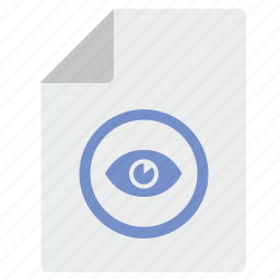 document, file, layer, read, view, visible icon