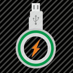 charging, data, mini, mobile, transfer, usb, wireless icon