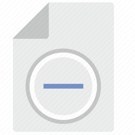 cut, doc, document, file, minus, scale icon