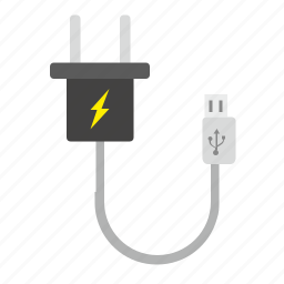 cable, charge, mini, mobile, port, usb icon