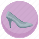dress, footwear, lady, office, shoe, woman icon