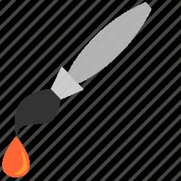 brush, choose, color, drop, instrument, orange, pattern icon