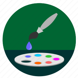 brush, choose, color, fill, instrument, pallette icon
