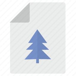 doc, document, file, fir, paper, tree icon
