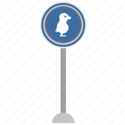 bird, duck, go, poi, road, warning icon