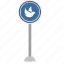 bird, fly, poi, road, sign, warning icon