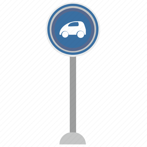 auto, car, compact, format, poi, road, sign icon