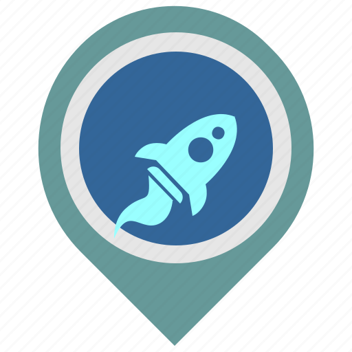 galaxy, pointer, rocket, ship, space, transport icon