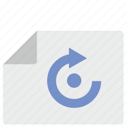 doc, document, file, position, rotate icon