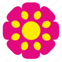bud, flower, plant, red, rowan icon