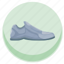 casual, dress, foot, footwear, item, round, shoe icon