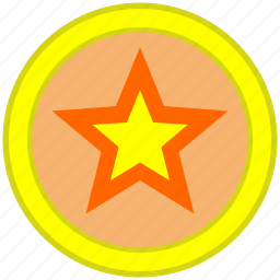 dot, place, pointer, round, star icon