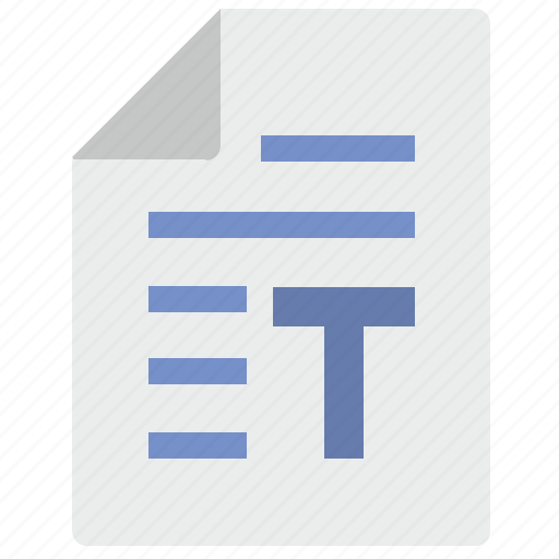 document, letter, paper, t, text icon
