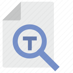 document, find, operation, t, text icon