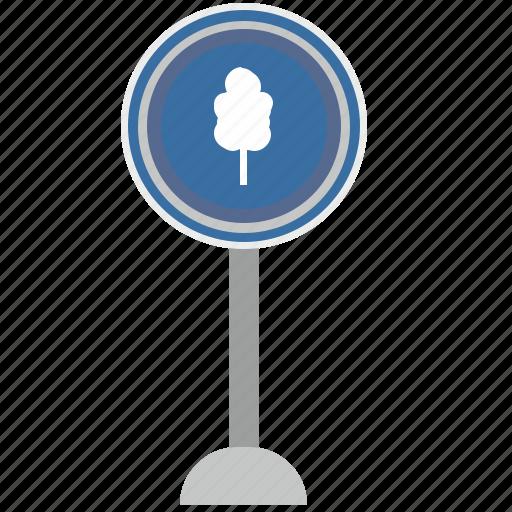 forward, poi, road, sign, tree, warning icon