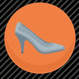 dress, footwear, lady, shoe, woman icon