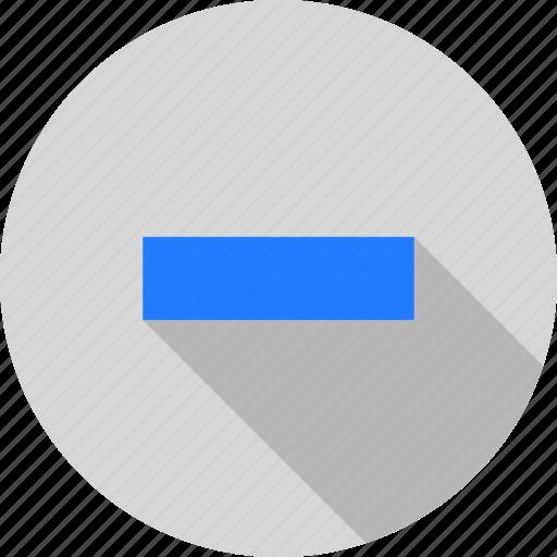 cancel, dash, minus, reduce, remove, shadow icon