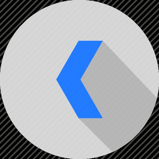 arrow, left, slider icon