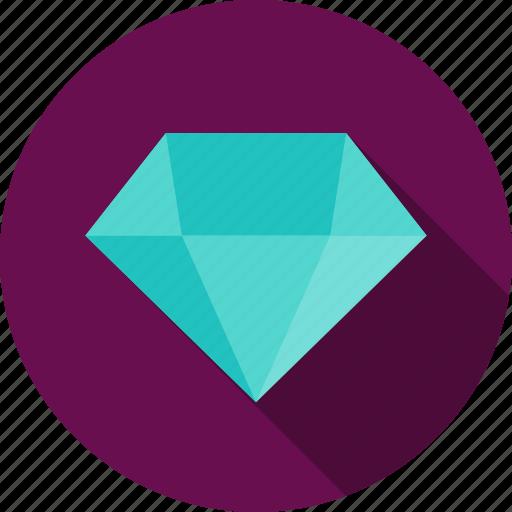 diamond, gem, jewel, jewelry, precious, stone icon