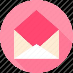 empty, envelope, open, post, postal icon