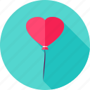 balloon, celebration, decoration, heart, love, valentine icon