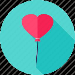 balloon, celebration, decoration, heart, love, valentine icon