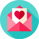 envelope, heart, letter, love, mail, postcard, valentine
