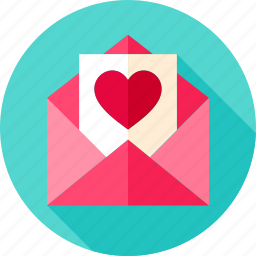 envelope, heart, letter, love, mail, postcard, valentine icon