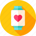 heart, love, smart, smartwatch, technology, valentine, watch icon