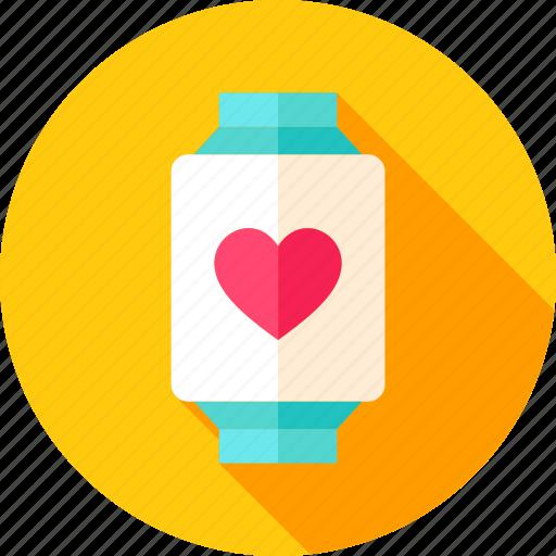 heart, love, smart, smartwatch, technology, valentine, watch icon