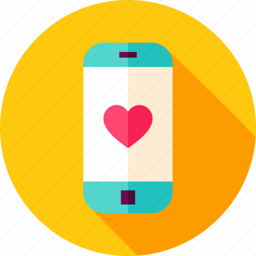 cell, heart, love, mobile, phone, smartphone, valentine icon