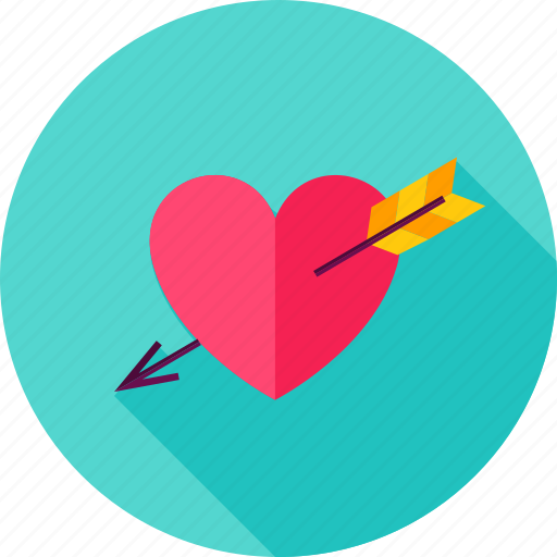 arrow, heart, love, valentine icon