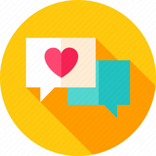 chat, email, heart, love, message, valentine icon